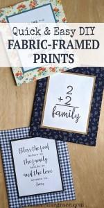 Fabric Frame Craft