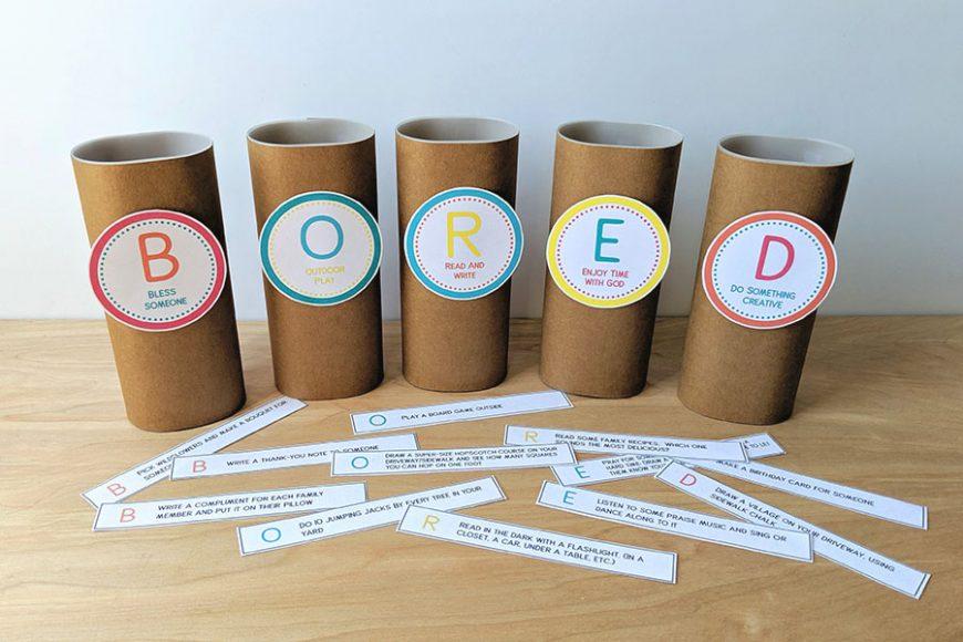 Free Printable Boredom Busters