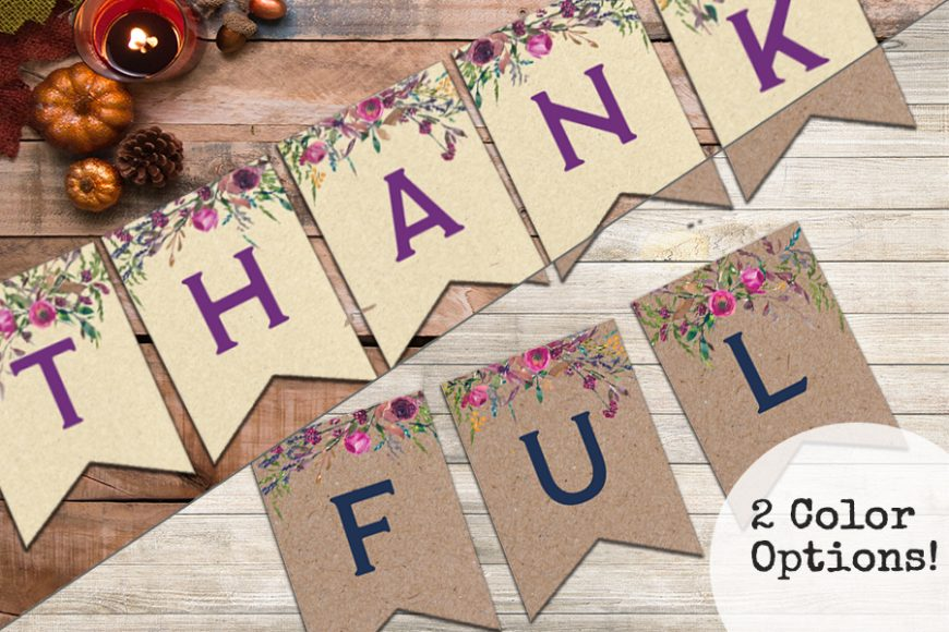 Thankful Banners – Free Printable