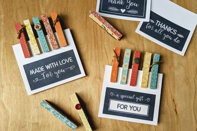 Easy Clothespin Magnets – With Free Printable Gift Tags
