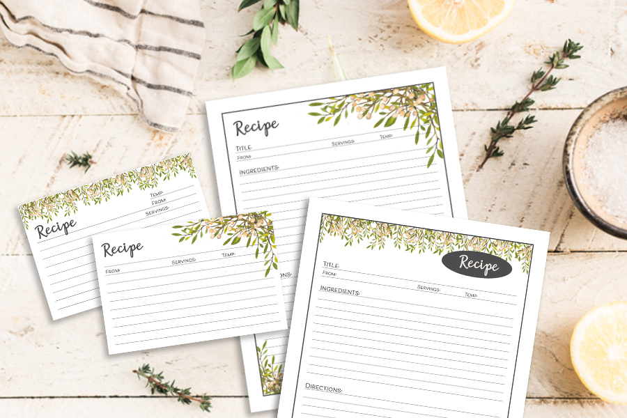 Free Printable Recipe Cards and Recipe Binder Tutorial
