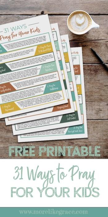 Display of printable prayer guide