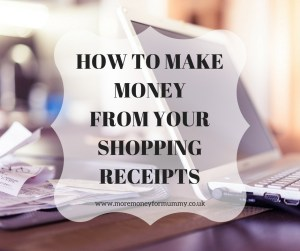 make money from your shopping receipts
