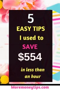 5 easy tips to save $554 in less than an hour