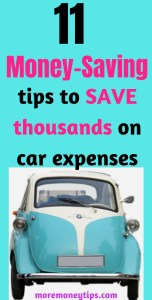 11 Money saving tips to save thousands on car expenses