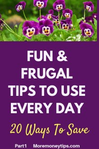 Fun and Frugal Tips to use every day-20 ways to save