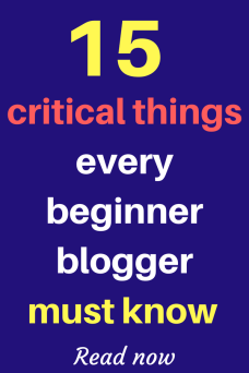 15 Critical things every beginner blogger must know