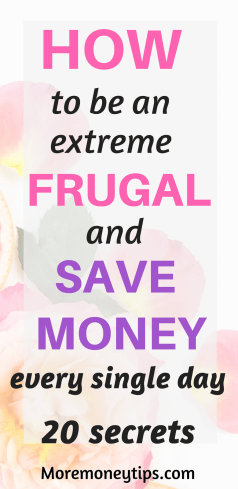 20 Frugal money savings tips