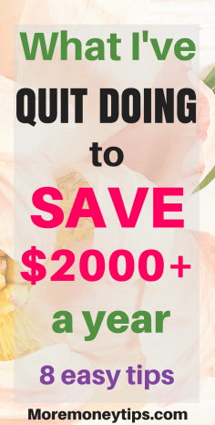 What I quit doing to save money
