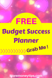 Free budget success planner