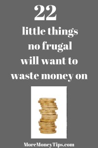 little things no frugal will want to waste money on