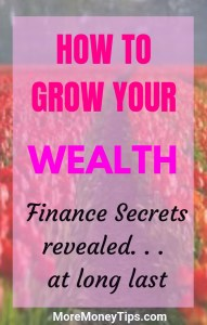 How to grow your wealth. Finance Secrets Revealed at long last.