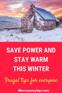 Save power and stay warm this winter
