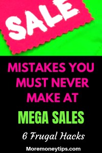 Mistakes you must never make at mega sales