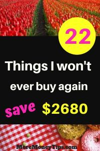 22 things I won't ever buy again to save $2680.