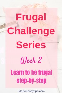 Frugal Challenge Series Week 2 Learn to be frugal step-by-step
