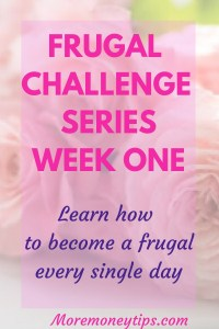 Frugal Challenge Series 2020 ( Week 1 )