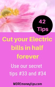 Cut your electric bill in half forever.