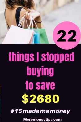 22 Things I stopped buying to save $2680