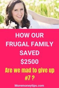 How our frugal family saved $2500