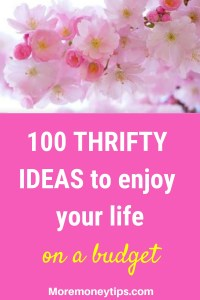 100 thrifty ideas to enjoy your life.