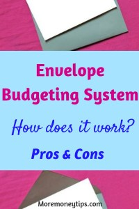 Envelope Budgeting System. How does it work?