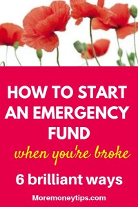 How to start an emergency fund when you're broke