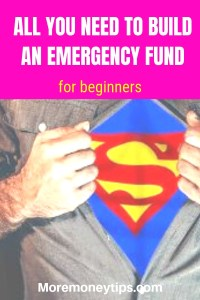 All you need to build an emergency fund for beginners
