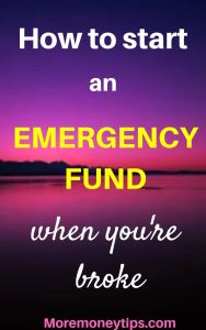 How to start an emergency fund when you're broke.
