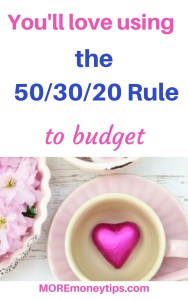 You'll love the 50/30/20 Rule to budget.