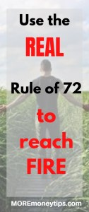 Use the real rule of 72 to reach FIRE.