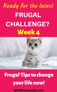 Ready for the latest frugal challenge? Week 4.