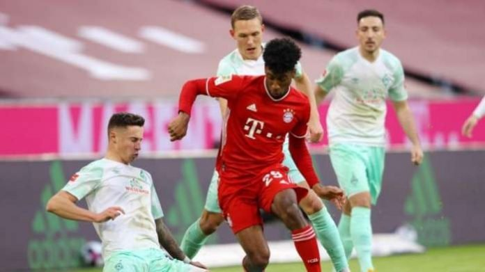 Bayern Munich had to come from behind to salvage a 1-1 draw against Werder Bremen on Saturday, losing only for the second time in their last 35 games in all competitions, but still three points clear at the top of the table. .