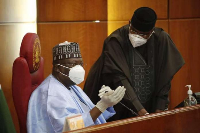 The President of the Senate, Senator Ahmad Lawan, presided over the plenary on Tuesday at the National Assembly, Abuja.2