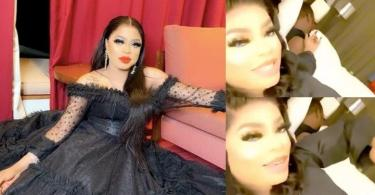Bobrisky shows off his 'mystery lover' in hotel room (Video)