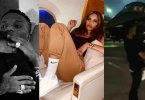 Wizkid finally flies back home with his baby mama and son, Zion (Video)
