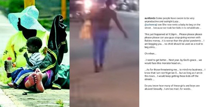 OAP exposes a street beggar who rented someone's baby to beg with