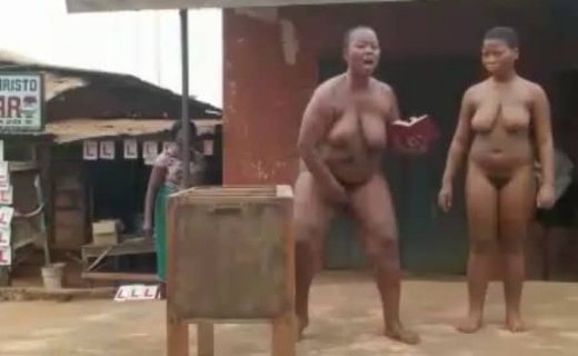 Video Of The Two Naija Ladies That Ran Mad