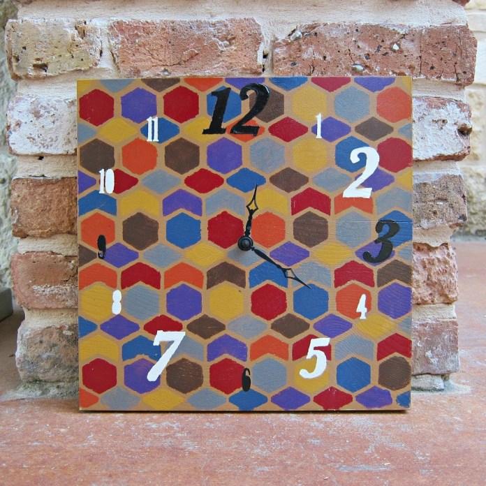 Stenciled-Clock-DIY