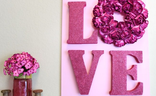Love Letters Wall Art Diy For Valentine S Day Morena S