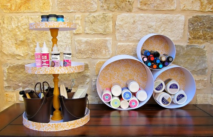 Turn nesting boxes into an attractive, inexpensive storage solution for your craft room or home.
