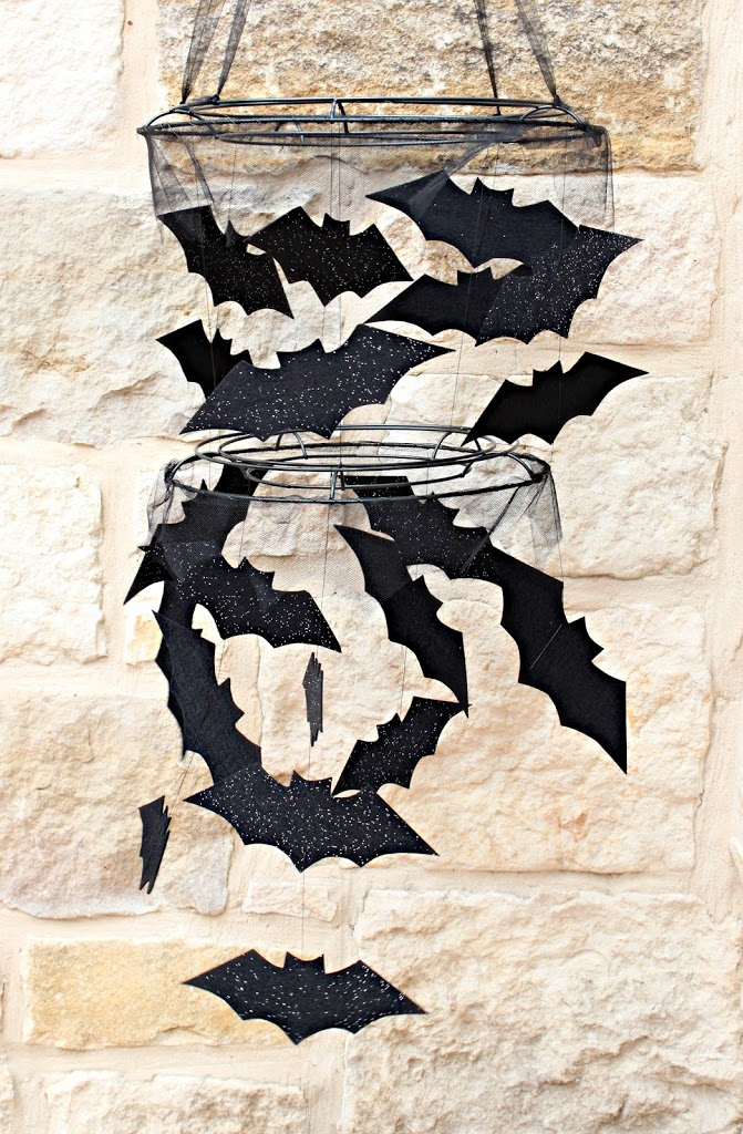 DIY Bat Chandelier