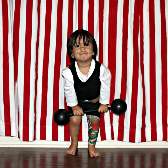 make a strong man circus costume for kids
