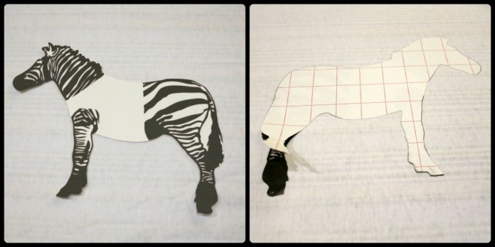 step 1 zebra pillow