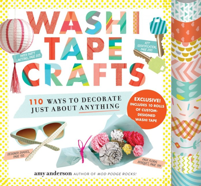Washi Tape Crafts is an inspiring new book that comes with 10 rolls of washi tape.
