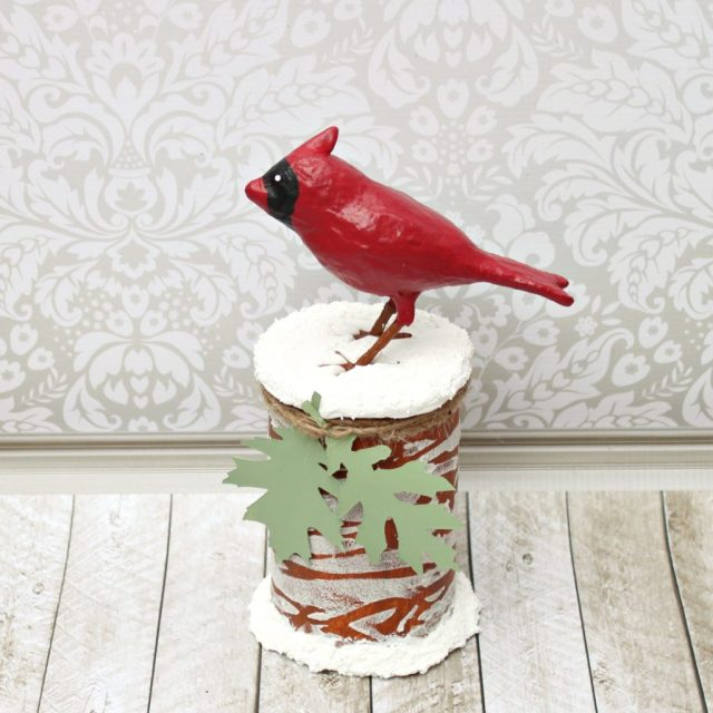 Recycle a Pringles can into a winter woodlands themed cookie container. This fun project is a great way to deliver home made cookies.