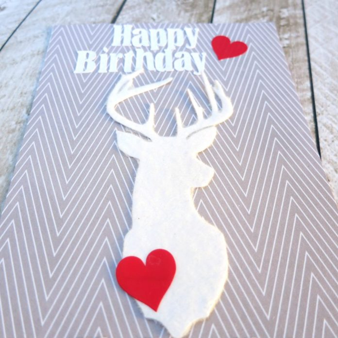 Make custom flocked cards quickly and easily by using the Silhouette Cameo to cut and the Xyron Creative Station Lite to flock the paper!