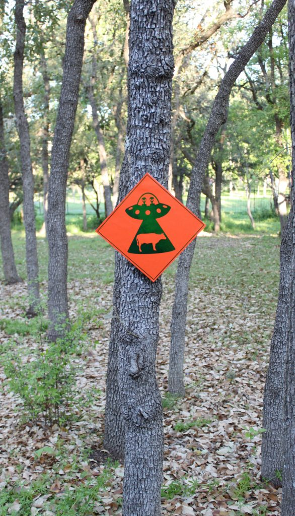 "To ""celebrate"" March 20, Alien Abduction Day, make this fun sign to warn folks of impending alien danger! Free printables with tutorial."