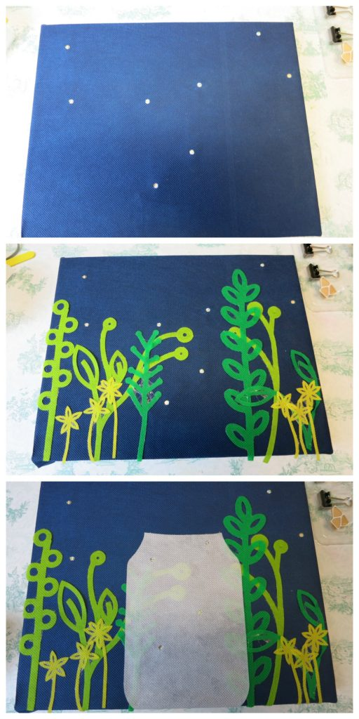 Make your own lightning bug wall art that lights up!