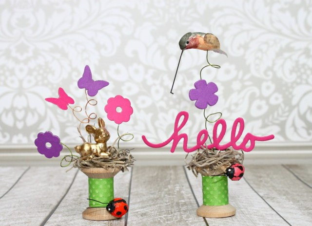 Make miniature spool vignettes to decorate with! A fun, easy project to make. Tutorial comes with supply list and detailed instructions.